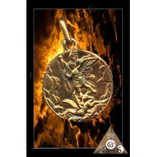 MEDAILLE SAINT MICHEL OR 18 CTS