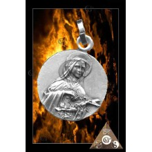 MEDAILLE SAINTE THERESE ARGENTE